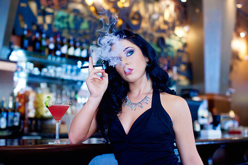 Girl vaping CBD Vape