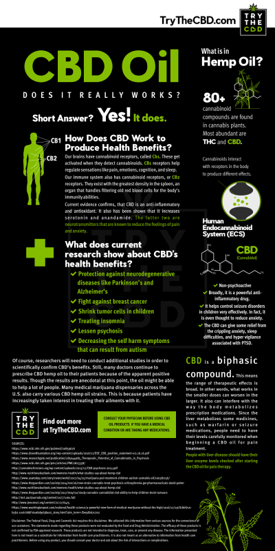 Does CBD Oil reall Works? - Infographic