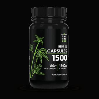 CBD Capsules - 1500MG CBD Oil Capsules - Hemp Oil Capsules - Hemp CBD Oil