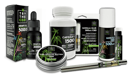 Shop now TryTheCBD CBD products, CBD Oils, Capsules, Full Spectrum Tinctures, CBD Balms, CBD Rescue Butters, Massage Oils!