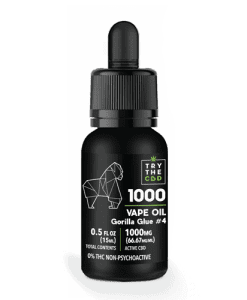 1000MG Gorilla Glue #4 CBD Vape Oil Gorilla Glue #4 Blend - CBD Vape Juice