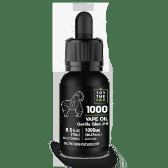1000MG Gorilla Glue #4 CBD Vape Oil Gorilla Glue #4 Blend - CBD Vape Juice