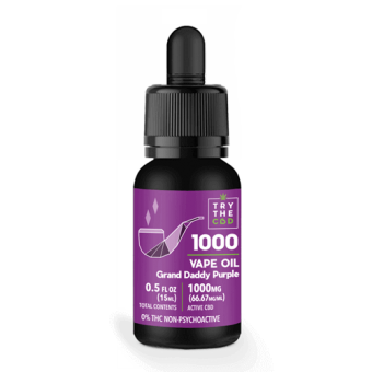 1000MG Grand Daddy CBD Vape Oil Grand Daddy Purple Blend - CBD Vape Juice