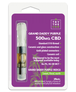 Granddaddy purple 500mg CVD Vape Cartridge