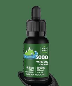 3000mg cbd og kush vape oil
