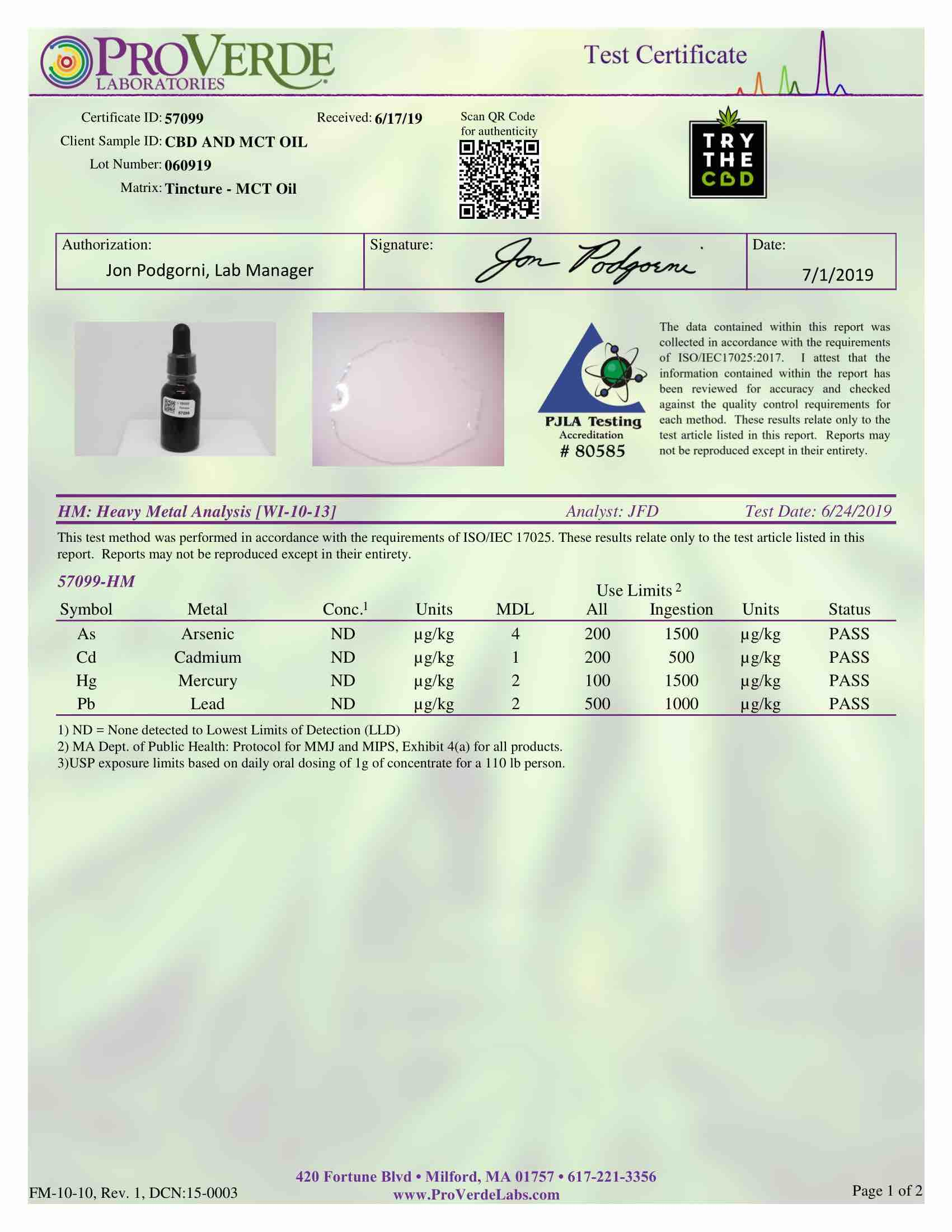 CBD Oil 600 mg THC FREE