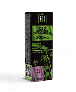 300mg CBD STRAWNANA VAPE CARTRIDGE