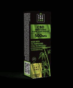 500MG CBD Pineapple Express Vape Cartridge