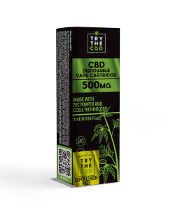 500mg CBD Vape Super Lemon Haze Cartridge