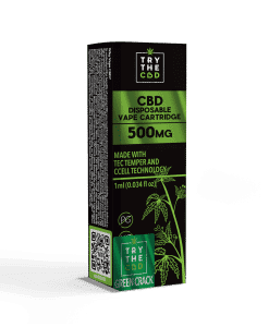 500mg cbd green crack vape cart