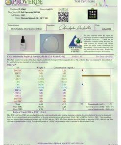 Full-spectrum 500mg CBD tincture Third-party lab Test certificate